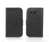 New PU Leather Wallet Stand Case for Samsung S7710 Galaxy Xcover 2 Flip cover Purse with credit card holder slot