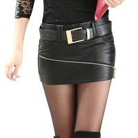 2015 new Women's wild fashion PU leather skirt saias femininas vestidos leather pencil skirt plus size