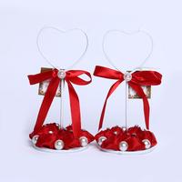 GAGA !  red bud flowers iron wedding place card holder  30 pcs/lot , XA101-1