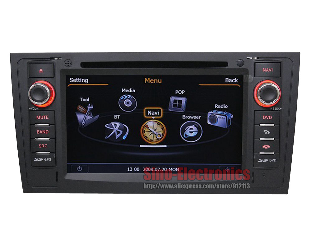 Автомобильный DVD плеер OEM DVD GPS Audi A6 S6 rS6 1997/2004 Auotradio iPod 3G 1GHz/RAM 512MB Bluetooth RDS