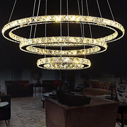 Luxury European-style Diamond ring light DIY Modern crystal pendant lamp different size K9 LED crystal chandelier(China (Mainland))