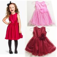 Peacemaker Girl dress girl clothing kids lace pink  dress princess ball gown  summer little girl dress sleeveless