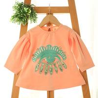 2015 New baby girls fashion tops,children cotton tees t shirts,sequins,4 colors,5 pcs/lot,wholesale,2018