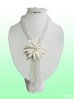 FVG66  Rose the latest design semi-precious stone necklace  bracelet set