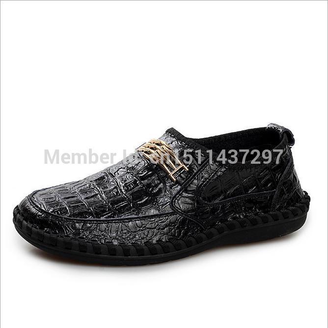 Chaussures Homme Crocodile Cuir Chaussures en Cuir Hommes