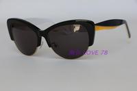 oval sun glasses env011 acetate brand sunglasses oculos de sol