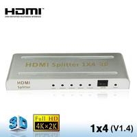 1 input 4 output audio video 1X4 HDMI Splitter