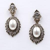 Wholesale New 2015 women statement earring fashion pearl stud Earrings for women jewelry factory price lady gift