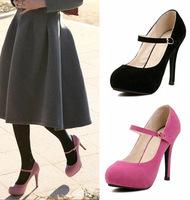 Princess  round toe thin heels  platform women  shoes  wedding party dancing buckle design  shoes