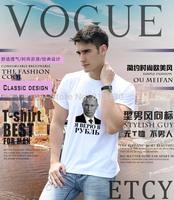 2015 New Men's Clothing Tops Tees T-Shirts I believe in ruble Vladimir Putin T Shirts Men short Sleeve White XXL free shipping