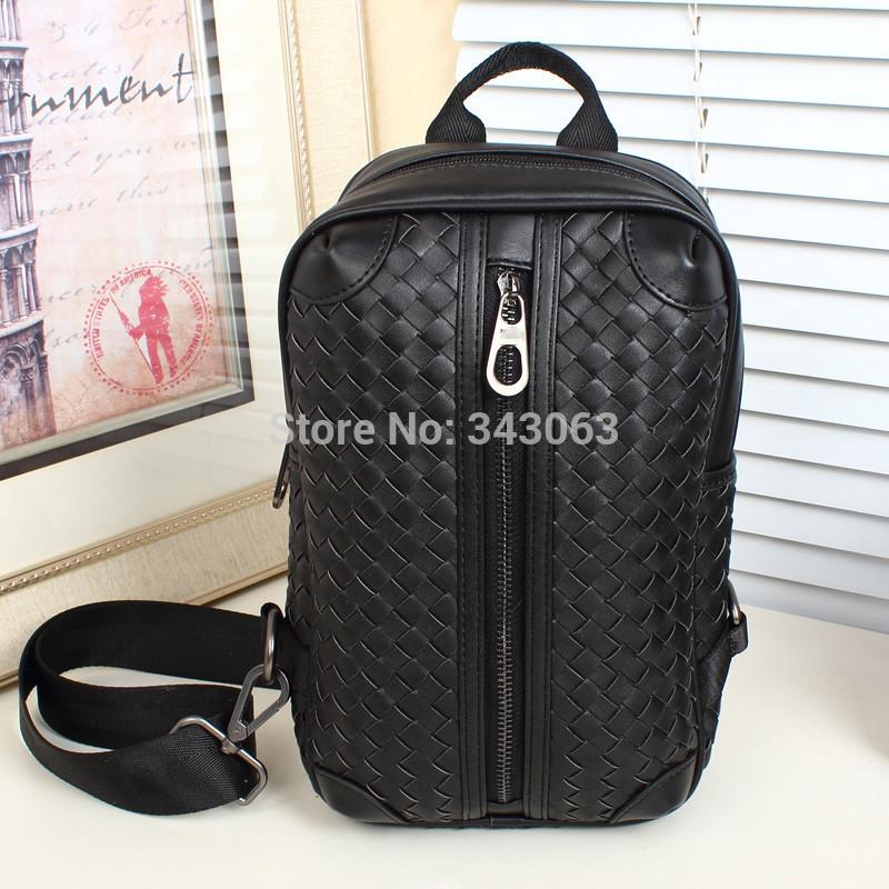 New Fashion Knitting Brand man messenger bags leather impresso Vintage bolsos travel clutch sac dora(China (Mainland))