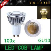 100pcs GU10 socket dimmable 85-265V 110v 220v  9W 12W 15W COB LED lamp light GU 10 led  bulb s Spotlight  led lighting