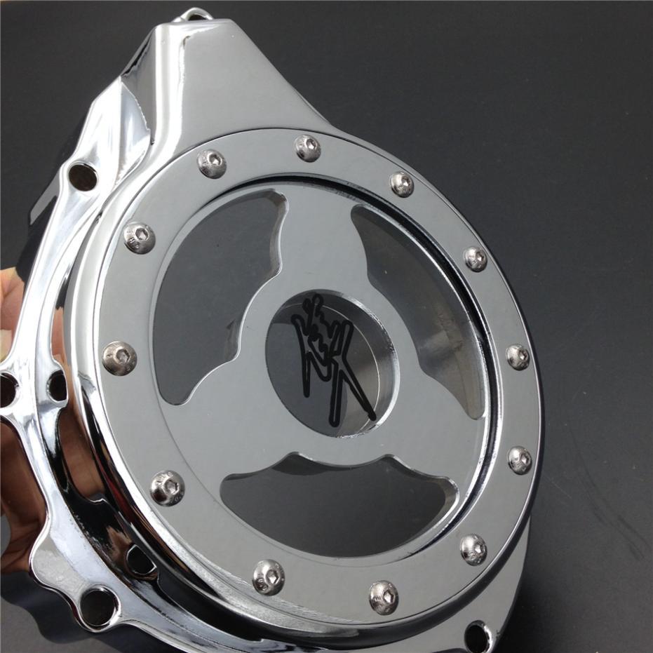 Peças da motocicleta de vidro ver através do motor do estator capa para Suzuki GSX1300R Hayabusa 1999-2013 CHR(China (Mainland))