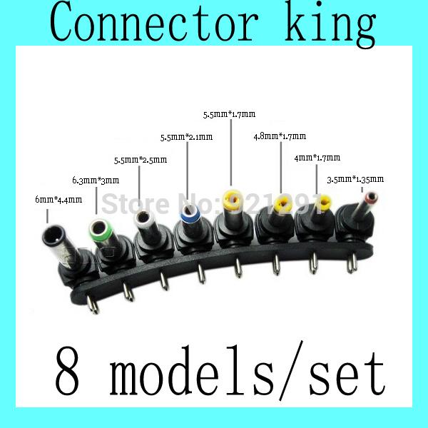 5pcs/lot! 8models 5.5*1.7/ 4.0*1.7 DC Power Adapter Converter Connector for SONY Fujitsu HP DELL Lenovo IBM Laptop Tablet PC PAD(China (Mainland))