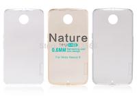Free shipping 10pcs original Nillkin case for Moto Nexus 6 Nature TPU transparency case +retail box