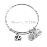 Personalized silver Filled Bangle Bracelet Style Name it's a boy Bracelet Bangle