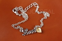 Original LOVE Letter Jewelry Heart-shaped Pendant Anklet Foot Chain Bracelet for CE certification