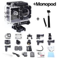 Original SJ4000 Action Diving 30M Waterproof 1080P Full HD Helmet Camera Underwater Sport Cameras Sport DV Gopro + Gopro Monopod
