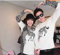 Zebra LeopardPrint TShirts Women's Plus Sizes Lovers lingerie couples men's novelty blusas long blouses white casual82822806168