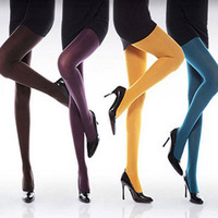 2014 Brand New High Quality Durable Spring & Autumn Women's 120D Velvet Candy Color Warm Tights   8 Colors