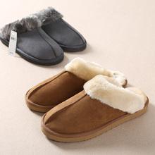 Envío gratis 2014 nueva llegada, Australia piel de oveja y zapatillas de lana, moda zapatillas de algodón caliente para mujeres y hombres de la venta entera(China (Mainland))