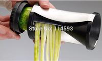 Free Shipping manual Spirelli Grater Vegetable Julienne Spiral Slicer Vegetable & Fruit Slicer Twister kitchen cooking tools