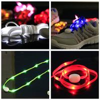 New fifth-generation LED lights with shoelace, flashing shoelace fluorescence, stylish fiber optic LED novelties, 3pcs wholesale