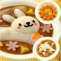 4pcs/set Cartoon Rabbit Dolphin Rice Egg Sushi Mould Kitchen Tool DIY Mold Set#ZH265