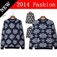 2014 NEW Winter Fashion Men Pullover Long Sleeve Wool Sweater Geometric Print Woolen Casual Sweaters Korean Style Clothing 1108K
