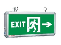 Glass Pnael Fire Emergency Exit Sign Light 3W Green Light Fire Exit Guidence DHL Free Shipping