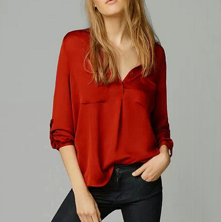 confronta i prezzi su red silk blouses shopping online. Black Bedroom Furniture Sets. Home Design Ideas