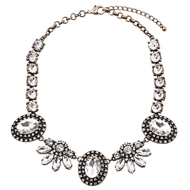 buy 2015 latest designer clear flower vintage luxury fashion jewelry