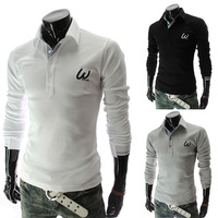 "Fashion Stylish Casual ""W"" Slim Fit Long Sleeve T-Shirts  3-Colors"