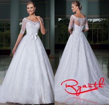 Свадебные платья Noiva е . м . ренда бальное платье белый свадебные платья год сбора винограда невесты платья роскошные свадебные платье Vestido бранко RBW225