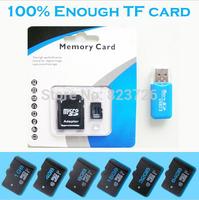 EMS 100Pcs/lot Real Capacity Memory cards Micro SD Card Class 10  32GB 64GB  Microsd Flash TF card Pen drive  + Free Adapter