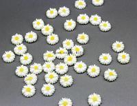 50% off 400pcs 13mm mini Matte White Daisy Sunflower Resin Cabochons,Flower decoration,DIY Accessory Jewellery Making