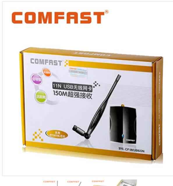 1CF-WU860N 150M wall type high power USB WiFi receiver transmitter wireless card soft AP(China (Mainland))