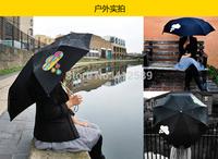 clouds umbrella   auto umbrella Open Hand  Color changing umbrella  George Honda - Changing Parasol  gift umbrella