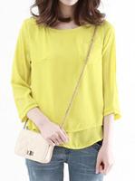 2014 fashion Brand New Casual Women Blouses Vintage style Polka Chiffon Blouses full Sleeve Lapel Shirts 2 colour