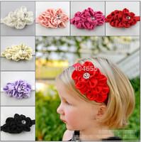 free shipping 8 colors New Beautiful Flower  Headband Hairband Baby Girls Headbands/' Hair Accessories Gift