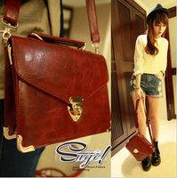 Retro Messager Bag PU Leather Women Clutch Handbag Shoulder Tote  Sling Bag Support Dropship Wholesale Price