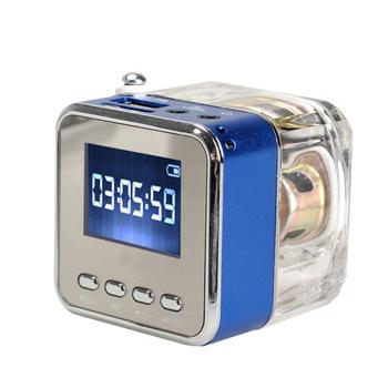 Высокое качество портативный динамик мини цифровой музыки MP3 / 4 плеер микро-sd TF USB FM радио NVIE