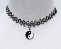 2015 New Fashion Jewelry Fishing Line Weave Yin Yang Tattoo Choker Necklace Gift For Women Girl Lovers