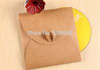 FREE SHIPPING kraft wedding CD/DVD case envelope,kraft Paper CD Sleeve packaging for wedding Size 13*13cm