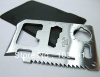 7cm 11 in 1 wholesale Emergency Outdoor Multi Tool Army marine military Hunting Survival Kit Pocket Credit Card Knife