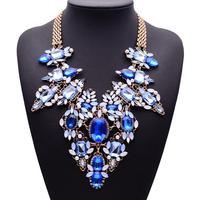 2015 New Arrival Fashion Statement Luxury Gem Collar Choker Women Clain Jewelry Brand Necklace 9835