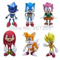 Sonic the Hedgehog Mini PVC Figures Toys Collectibles 6pcs/set Action Figure Toys Cute Gift  for Children DHL 100sets/lot