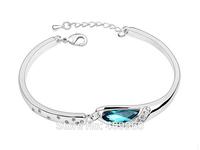 Vintage Fashion Classic Trendy Link Bracelets Rolo Chain Geometric Crystal Bracelets Wedding Accessories For Bridal Women
