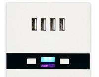 Fashion 5V 3A 4 USB Port 86 Wall Socket LED Charging for Home Hotels Schools Jeasy