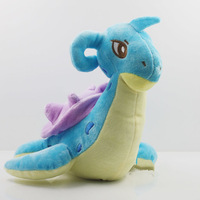 EMS 50pcs/lot New Arrival Pokemon Lapras Soft Plush Toy 24cm Doll Christmas Gift Dragon Plush